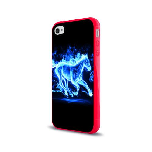 Чехол для Apple iPhone 4/4S силиконовый глянцевый  Фото 03, Ледяной конь