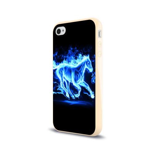 Чехол для Apple iPhone 4/4S силиконовый глянцевый Ледяной конь Фото 01