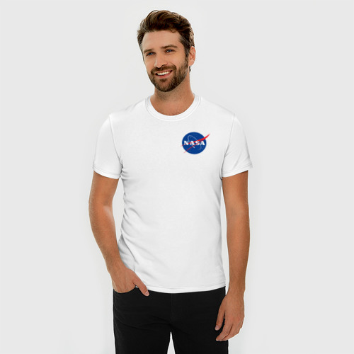 Мужская футболка хлопок Slim NASA Фото 01