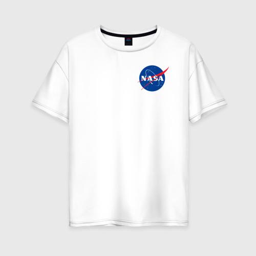 Женская футболка хлопок Oversize NASA Фото 01