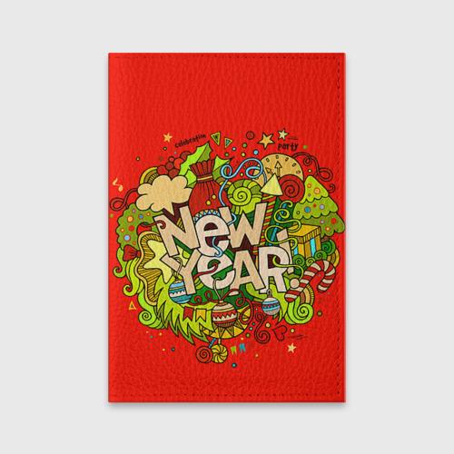 Обложка для паспорта матовая кожа New Year от Всемайки