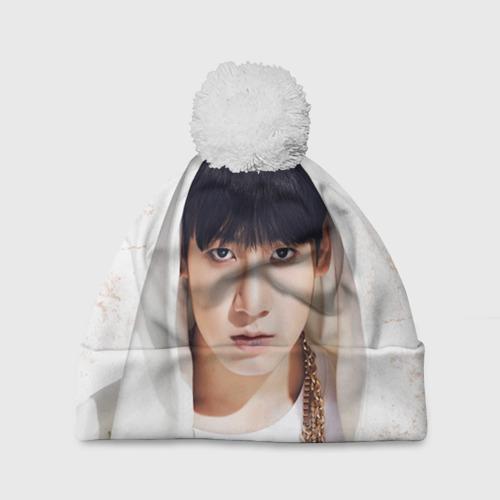 Шапка 3D c помпоном  Фото 01, Jeon Jung Kook