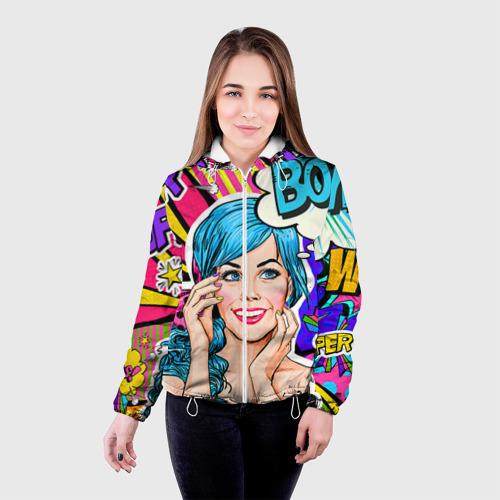 Женская куртка 3D  Фото 03, Pop art