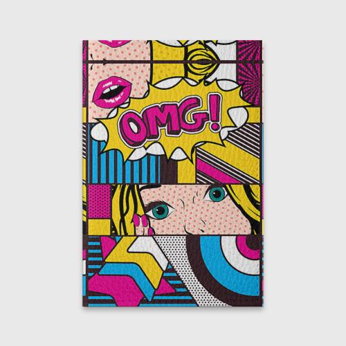 Обложка для паспорта матовая кожа  Фото 01, POP ART
