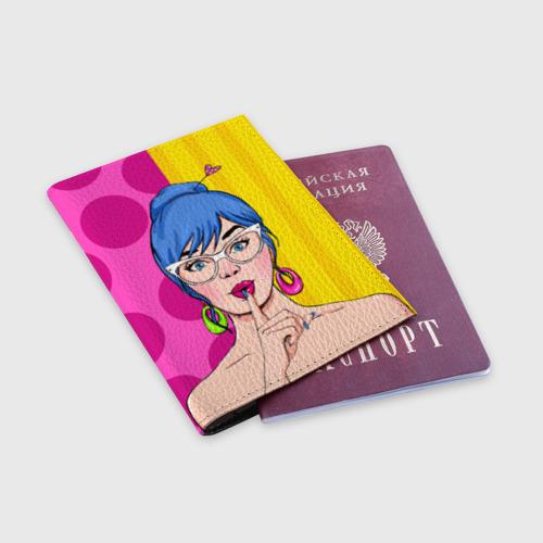 Обложка для паспорта матовая кожа  Фото 03, POP ART