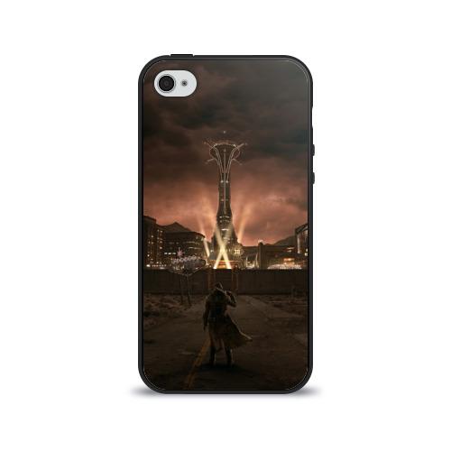 Чехол для Apple iPhone 4/4S силиконовый глянцевый  Фото 01, Fallout: New Vegas