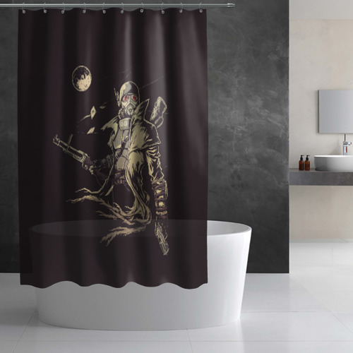 Штора 3D для ванной  Фото 02, Рейнджер-ветеран НКР