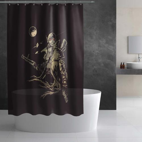 Штора 3D для ванной  Фото 03, Рейнджер-ветеран НКР