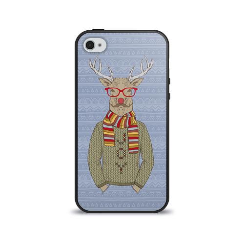 Чехол для Apple iPhone 4/4S силиконовый глянцевый  Фото 01, Олень