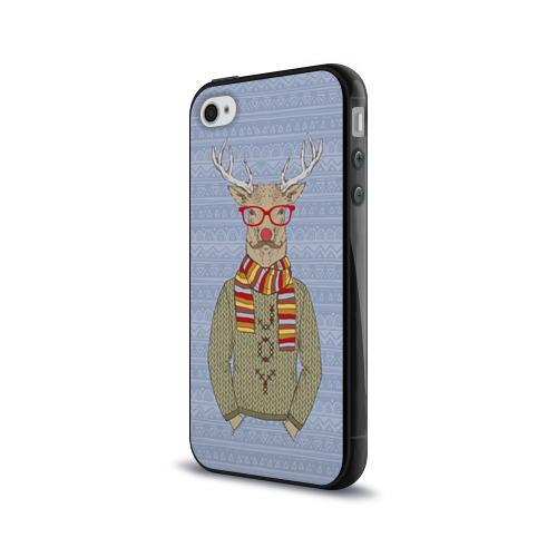 Чехол для Apple iPhone 4/4S силиконовый глянцевый  Фото 03, Олень