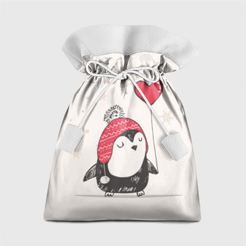 Подарочный 3D мешок Пингвин с шариком