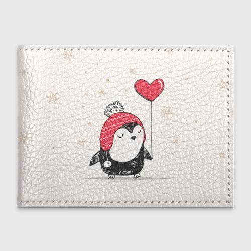 Обложка для студенческого билета Пингвин с шариком Фото 01