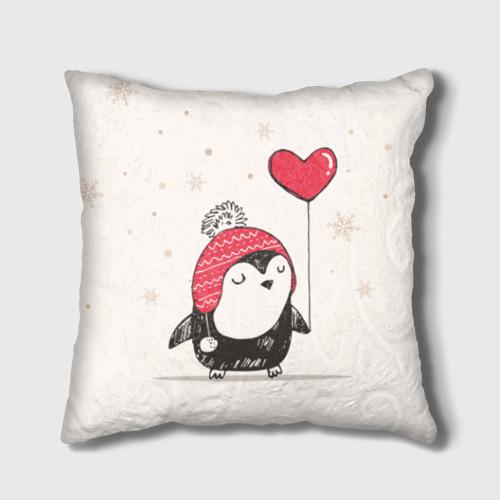 Подушка 3D Пингвин с шариком Фото 01