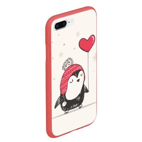Чехол для iPhone 7Plus/8 Plus матовый Пингвин с шариком Фото 01