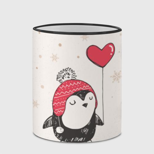 Кружка с полной запечаткой Пингвин с шариком Фото 01