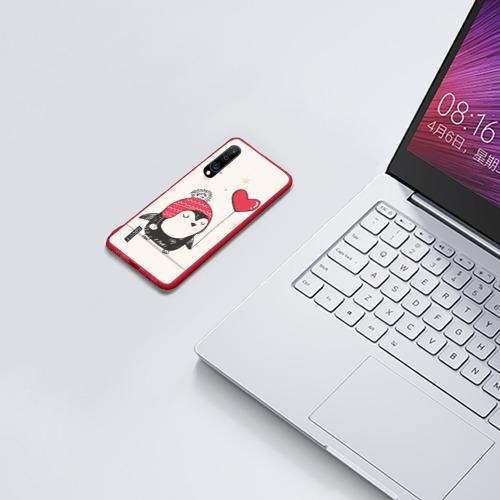 Чехол для Xiaomi Redmi Mi A3 Пингвин с шариком Фото 01