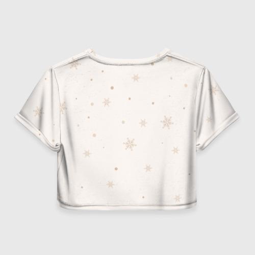 Женская футболка Crop-top 3D Пингвин с шариком Фото 01