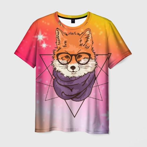 Мужская футболка 3D Лиса Фото 01