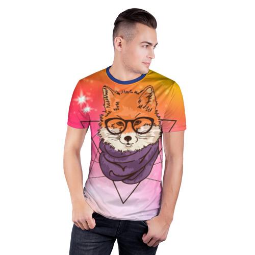 Мужская футболка 3D спортивная Лиса Фото 01