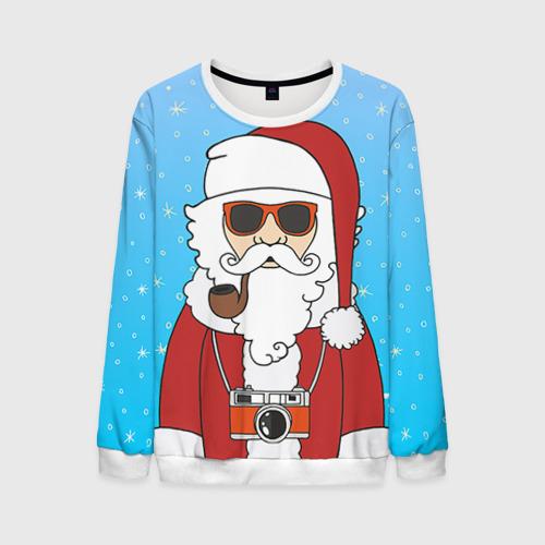 Мужской свитшот 3D Дед мороз от Всемайки