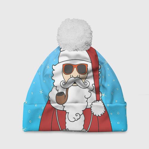 Шапка 3D c помпоном  Фото 01, Дед мороз