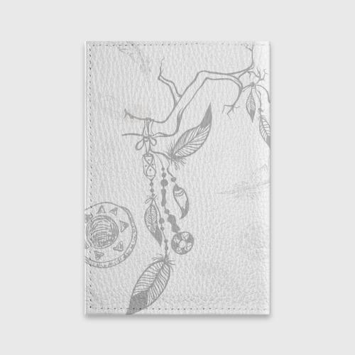 Обложка для паспорта матовая кожа  Фото 02, Волк