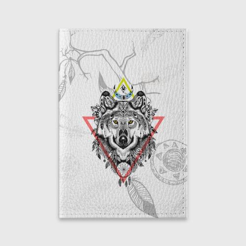 Обложка для паспорта матовая кожа  Фото 01, Волк