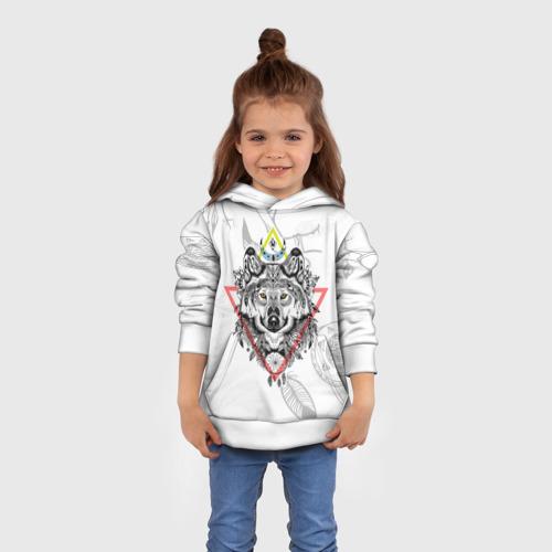 Детская толстовка 3D  Фото 01, Волк