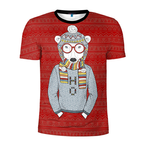 Мужская футболка 3D спортивная Мишка