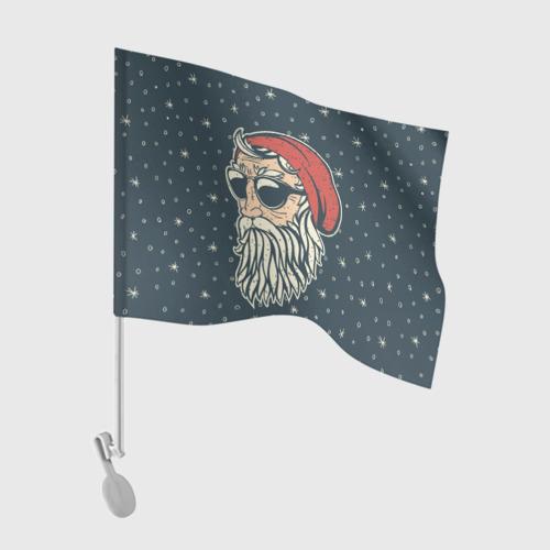Флаг для автомобиля Санта хипстер