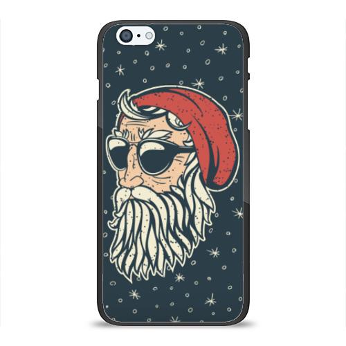 Чехол для Apple iPhone 6/6S Plus силиконовый глянцевый Санта хипстер от Всемайки