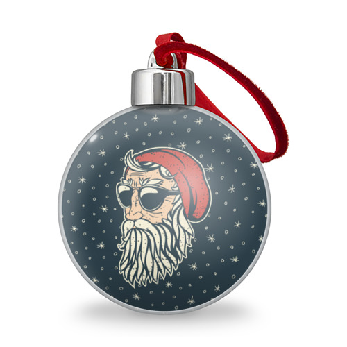Ёлочный шар Санта хипстер от Всемайки