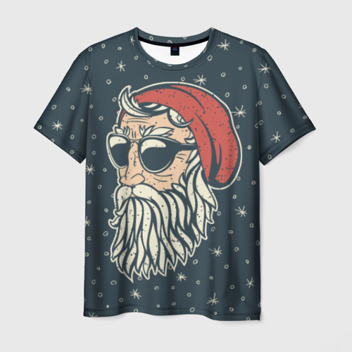 Мужская футболка 3D 'Санта хипстер'