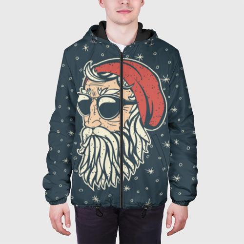 Мужская куртка 3D Санта хипстер Фото 01