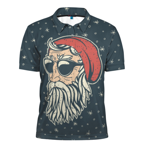 Мужская рубашка поло 3D  Фото 01, Санта хипстер
