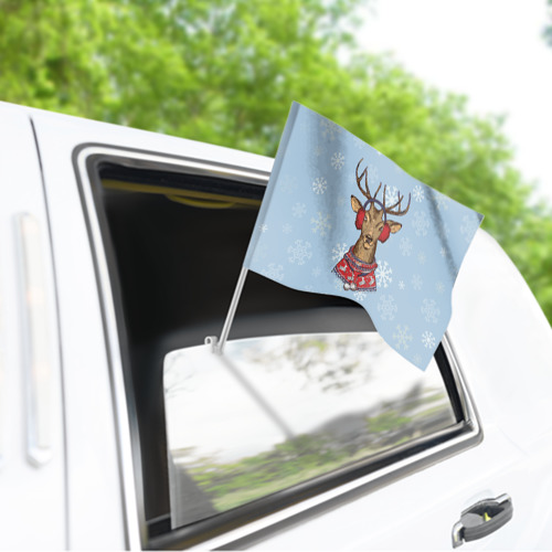 Флаг для автомобиля Олень Фото 01