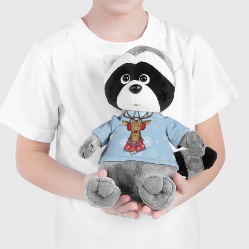 Енотик в футболке 3D Олень Фото 01