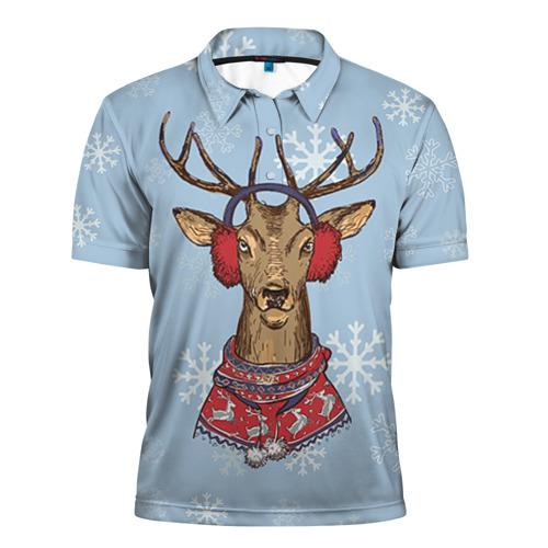 Мужская рубашка поло 3D Олень