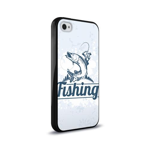 Чехол для Apple iPhone 4/4S силиконовый глянцевый  Фото 02, Рыбалка