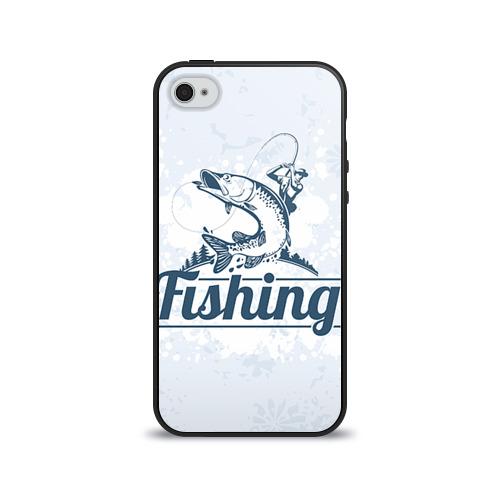 Чехол для Apple iPhone 4/4S силиконовый глянцевый  Фото 01, Рыбалка