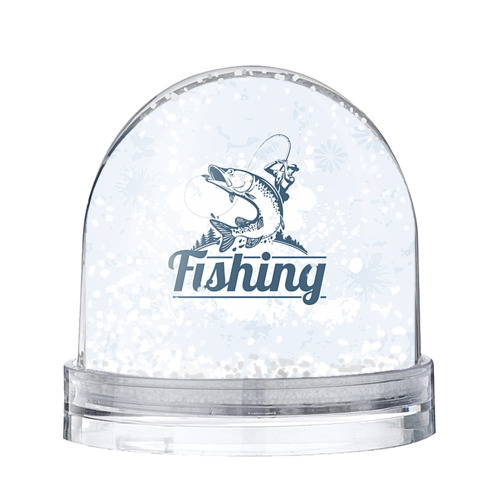 Водяной шар со снегом Рыбалка