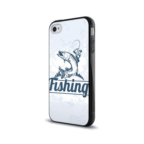 Чехол для Apple iPhone 4/4S силиконовый глянцевый  Фото 03, Рыбалка