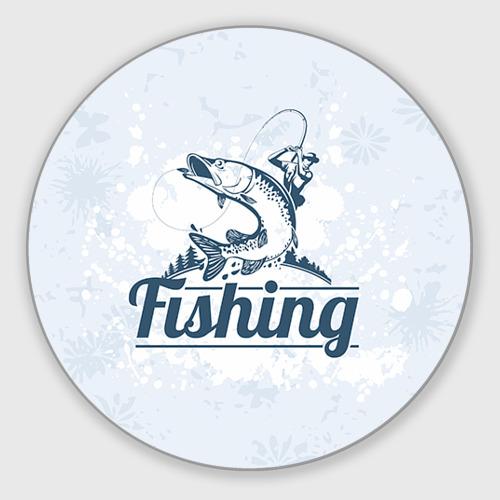 Коврик для мышки круглый Рыбалка Фото 01