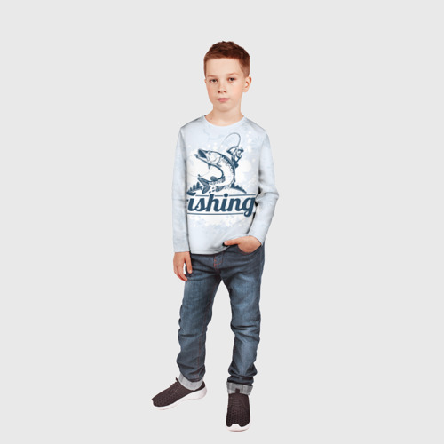 Детский лонгслив 3D  Фото 05, Рыбалка