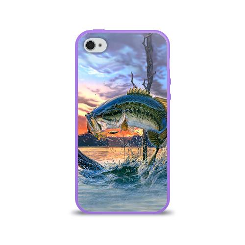 Чехол для Apple iPhone 4/4S силиконовый глянцевый  Фото 01, Рыба