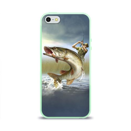Чехол для iPhone 5/5S глянцевый Щука Фото 01