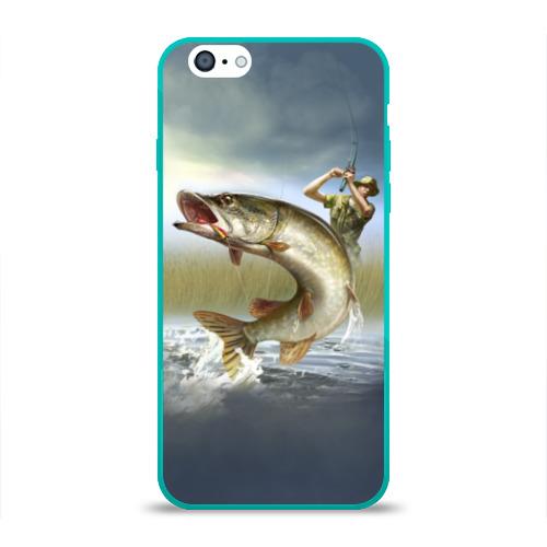 Чехол для Apple iPhone 6 силиконовый глянцевый Щука Фото 01