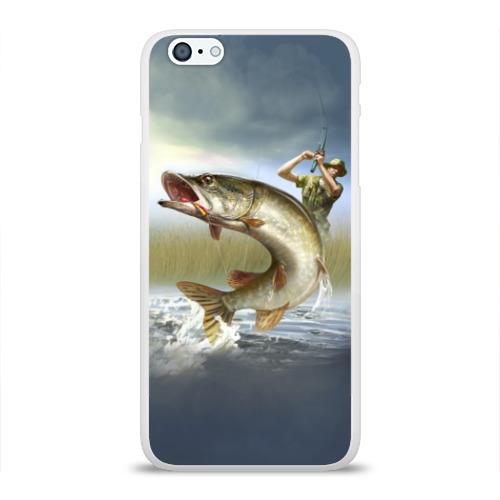 Чехол для Apple iPhone 6Plus/6SPlus силиконовый глянцевый Щука Фото 01