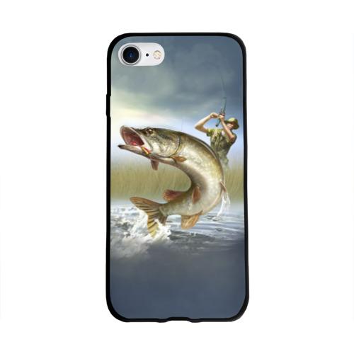 Чехол для Apple iPhone 8 силиконовый глянцевый Щука Фото 01