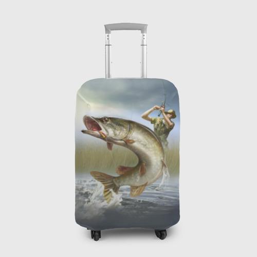 Чехол для чемодана 3D Щука Фото 01